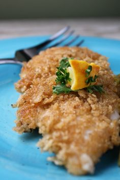 Rice Chex Crusted Chicken, Gluten Free and Egg Free Try with corn chex! never even thought to use Chex for breading!