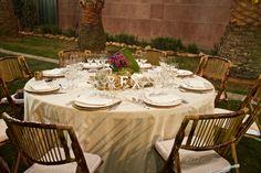 Sillas bambú Decoración mesa para eventos especiales. Rústico, vintage, provenzal.