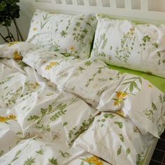 Cheap housse de couette, Buy Quality cotton bedding set directly from China sheet set Suppliers: Nordic Floral Cotton Bedding Set Duvet Cover Sets Soft Bed Flat Bed Sheet Set Pillowcase Bed Cover Housse De Couette Bed Sets, Bed Sheet Sets, Bed Covers, Duvet Cover Sets, Floral Duvet Covers, My New Room, My Room, Cute Bed Sheets, Cotton Bedding Sets