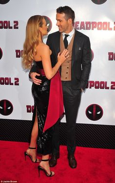 Couple goals: Ryan and Blake looked adorable together on the red carpet at the premiere. Blake And Ryan, Blake Lively Ryan Reynolds, Celebrity Look, Celebrity Couples, Priyanka Chopra Wedding, Blake Lively Family, James Bond Style, Dc Movies, Future Boyfriend