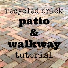 recycled brick patio and path DIY tutorial
