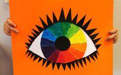 Kunst og handverk med TE: Auge av fargesirkelen