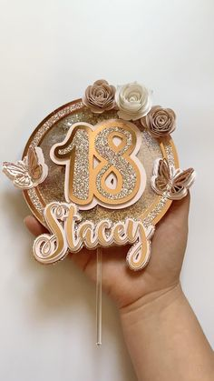 Gold Birthday Cake, Birthday Cake Toppers, Diy Birthday, Butterfly Theme Party, Butterfly Cakes, Engagement Mehndi Designs, Cricut Cake, Diy Cake Topper, Birthday Decorations