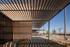 FJMT surrounds craigieburn library with shading louvers in australia - designboom | architecture & design magazine