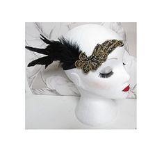 Starcrossed Beauty Stirnband / Kopfschmuck, mit Feder, Charleston-/1920er-Jahre-Stil, Schwarz / goldfarben, H58 Starcrossed Beauty http://www.amazon.de/dp/B00WIVACPM/ref=cm_sw_r_pi_dp_VMz.vb0D8FWBC