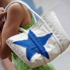Recycled sail bag by Sea Bags