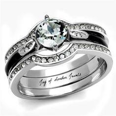 Vintage Style 1CT Round Cut Solitaire Russian Lab Diamond Wedding Bridal Set