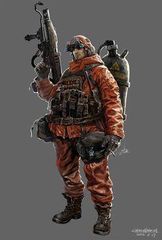 Spectrum The Best in Contemporary Fantastic Art 2d Character, Character Concept, Concept Art, Character Design, Fallout, Post Apocalypse, Mad Max, Gi Joe, Post Apocalyptic Art
