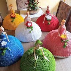 Crochet Fairy, Crochet Box, Diy Barbie Clothes, Diwali Craft, Bottle Cap Art, Half Dolls, Crochet Home Decor, Sewing Toys, Diy Home Crafts