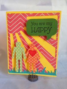 Card made with the new Close To My Heart Artbooking Cartridge and the You Are My Happy Stamp set! Get your Artbooking Cartridge now!! www.craftinandstampin.ctmh.com