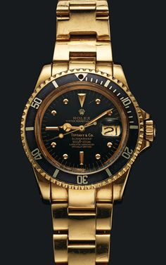 In a special excerpt from Matt Hranek's A Man and His Watch we learn about Sylvester Stallone and his Tiffany & Co Rolex Submariner. Rolex Watches For Men, Best Watches For Men, Luxury Watches For Men, Tag Watches, Vintage Rolex, Vintage Watches, Gold Rolex, Rolex Daytona Gold, Rolex Submariner