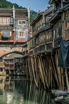Ancient Hunan towns Fenghuang and Furong, Hunan, China.By Pavel Dvorak Places To Travel, Places To See, Places Around The World, Around The Worlds, China Architecture, Ancient China, China Travel, Beijing, Wonders Of The World