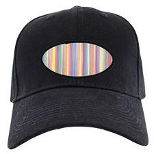 Watercolor Stripes Baseball Hat
