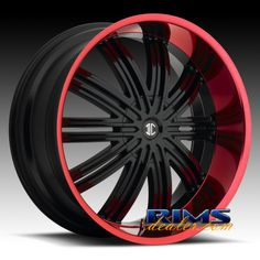 Black w/ Red Lip wheels for your car. Description from rimsdealer.com. I searched for this on bing.com/images