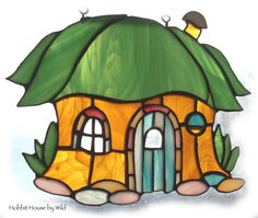 STAINED GLASS ART, Hobbit House.
