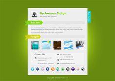 8 Free vCard Website Templates for Online Resume - Smashfreakz