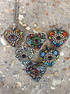 Eye heart pendants. www.byart.com
