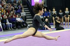 UCLA gymnast Katelyn Ohashi performs her floor exercise during a women's college gymnastics meet between the UCLA Bruins and the Washington Huskies on February 10 at the Alaska Airlines Arena in. Get premium, high resolution news photos at Getty Images Katelyn Ohashi, Gymnastics Posters, Ucla Bruins, Female Gymnast, Floor Workouts, Still Image, Sporty, The Incredibles, Gymnasts