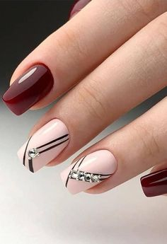 56 Stunning Nail Art Designs for Short Acrylic Nails - Page 16 of 56 - TipSilo Latest Nail Designs, Nail Art Designs Videos, Best Nail Art Designs, Short Nail Designs, Elegant Nail Designs, Elegant Nails, Hot Nails, Pink Nails, Hair And Nails