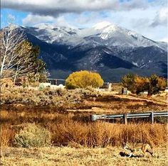 Taos....can you spot the Coyote? Taos is in northern New Mexico's high desert, bounded by the Sangre de Cristo Mountains. (V)