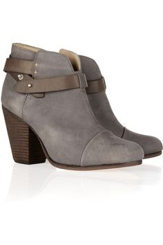 Harrow brushed-leather ankle boots / RAG & BONE