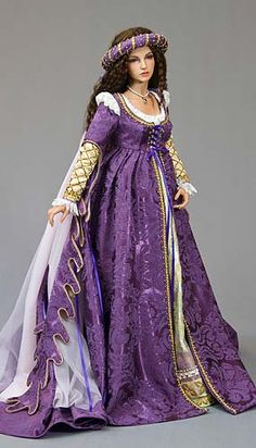 Renaissance doll in purple