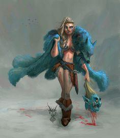 Viking Girl, David Ardinaryas Lojaya on ArtStation at https://www.artstation.com/artwork/GmlO1