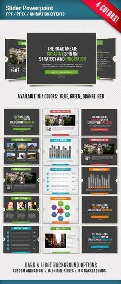 Slider Powerpoint by Design District, via Behance