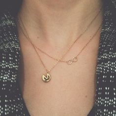 Delicate necklaces = my favorite kind.  No gold, though!