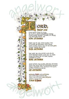 For Others  Illuminated Calligraphy Laminated Print от angelworx