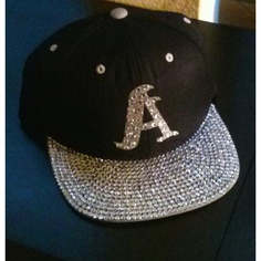 db5bdabbdba Custom Bling Snapback ( 50) ❤ liked on Polyvore Flat Bill Hats