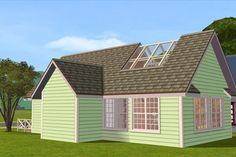 House Without Foundation, Skylight, Shed, Sims 2, Outdoor Structures, Cabin, Places, Tutorials, Blog