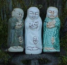I love these little Jizo statues from Great Vow...I realize looking at them again now that they've always had them where Jizo has the baby in arms.  The article attached to this has links to a couple different monasteries where they offer Jizo Ceremonies.