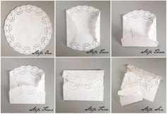 Lace Envelope Tutorial   Pearl Lowe's Vintage Home