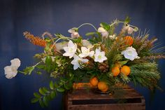 Winter Wedding Citrus Centerpiece
