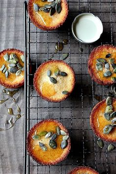 ~ honey pumpkin seed cakes ~