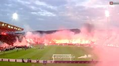 Rings of fire and dead fish? #PAOK fans are frightening #ΠΑΟΚ