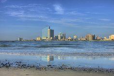 Atlantic City scene taken from the island of Brigantine,New Jersey. As a kid,my dad and I used to go fishing from the old Brigantine Pier. I have great memories.