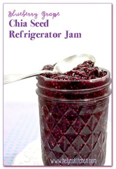 Blueberry Grape Chia Seed Refrigerator Jam. RAW. /via Helyn's Healthy Kitchen