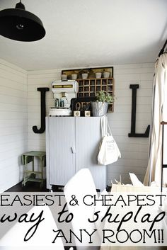 The Cheapest & Easiest Way To Shiplap - Office Update