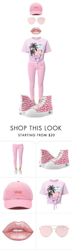 """""""pink"""" by keki78 ❤ liked on Polyvore featuring Dondup, Zipz, Vans, Miss Selfridge, Lime Crime and LMNT"""