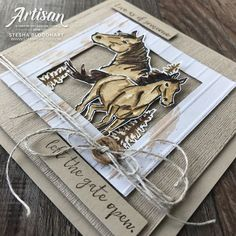 Let it Ride Stamp Set by Stampin' Up! Cards created by Stesha Bloodhart, Stampin' Hoot! Horse Cards, Animal Cards, Masculine Cards, Creative Cards, I Card, Card Kit, Homemade Cards, Stampin Up Cards, Making Ideas