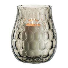 Illuminate your home with this Balsalto hurricane lamp from Leonardo. Expertly handmade, this vase is adorned with a chic honeycombed design and is made from smoked glass. Ideal for holding a pillar c