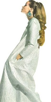 Veruschka wearing a djellaba dress, 1966
