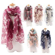 b6ef94f681 Atacado de moda de nova mulheres borboleta imprimir lenço lenços de algodão  elegante pescoço Wrap roubou