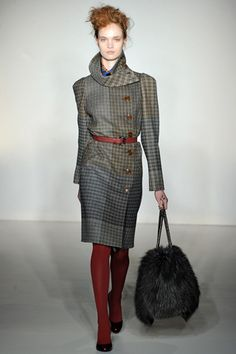 low maintenance dog and a purse awesome !!!  Fall 2012 Ready-to-Wear  Vivienne Westwood Red Label - Runway