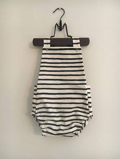 rifle paper co natural + black striped romper w/ green lining. PUT SIZE YOU WANT IN NOTES WHEN YOU CHECKOUT (: newborn 0-3 3-6 6-9 9-12 12-18 18-24 2T