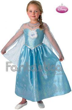 Disfraz para Niña Princesa Disney Frozen - Disfraz Original de Disney Princesa Elsa de Frozen