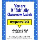 FREE!!! Need a cute idea for the first day/week of school?  Hand out gummy fish, goldfish, or Swedish fish with these cute little labels.    All you need t...