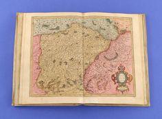 Gerhard Mercator, Germaniae Universalis, 1595 Ziegenledereinband mit 21 Landkarten. Je 40,5 x 53,5 c — Skulpturen, Möbel, Kunsthandwerk